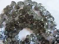 Black Routile Tear Drops Beads