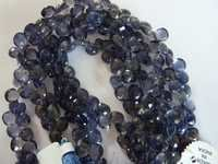 Iolite Faceted Heart Shape Beads