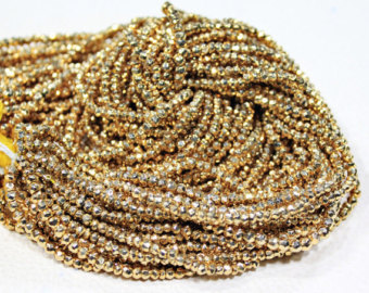 Pyrite Gold Beads