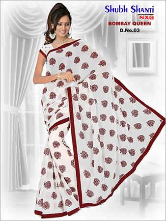 Printed Chiffon Sarees