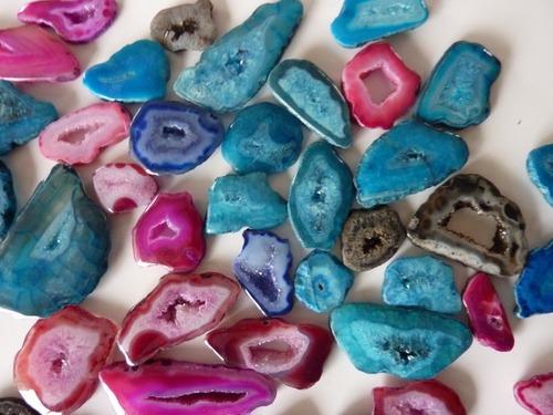 Druzy Agate Cut Stone