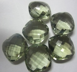 Green Amethyst Cut Stone