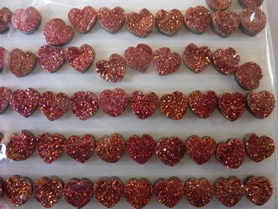 Heart Shape Druzy Cut Stone