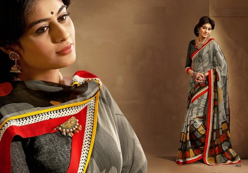 Designer Fancy Printed Sarees