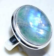 Rainbow Moonstone Rings