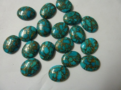 Natural Copper Turquoise Cabochons