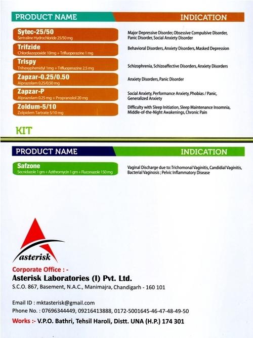 Product Card - ASTERISK LABORATORIES INDIA (P) LTD , Sco No