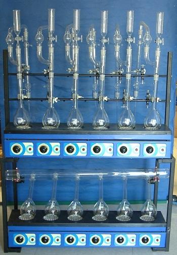 Kjeldahl Combined Digestion & Distillation Unit