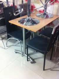 Steel Resturant Chairs Tables
