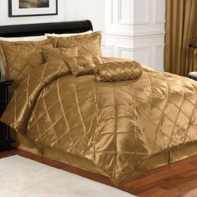 Golden silk quilted bedding