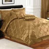 Golden silk quilted bedding