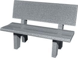 Grey Granite Garden Bench