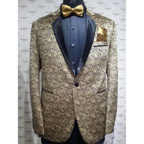 print velvet suit