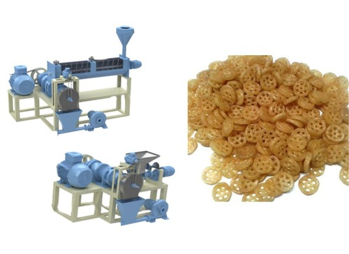 DOUBLE EXTRUDER FRYUMS MACHINE