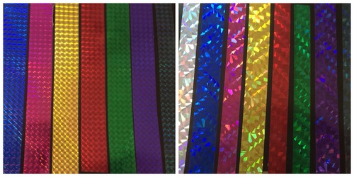 Holographic Films Colored
