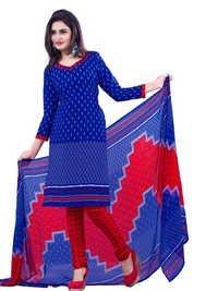 Printed chudidar  tunic salwar kameez suit