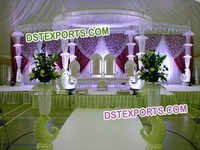 New  Wedding Fiber Crystal  Pillar Mandap