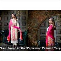 Esha Gupta Pink & Cream  Georgette Embroidered