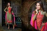 Esha Gupta - Beautiful Exclusive Designer Suit / Salwar Kameez