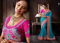 Net and Net Jacquard Lehenga Choli with Dupatta