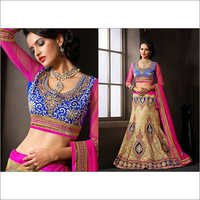 Gold Net Lehenga Choli with Dupatta