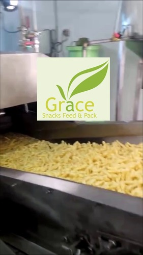Automatic Snacks Frying Plant