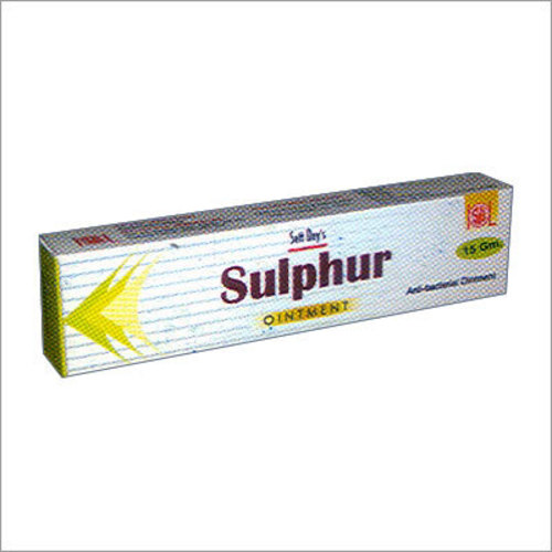 Homeopathic ointment Sulphur