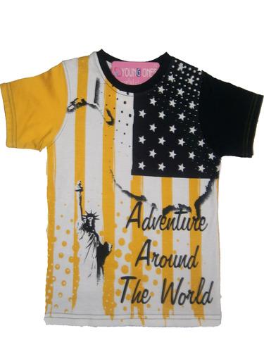 round nack t-shirt for kid boy