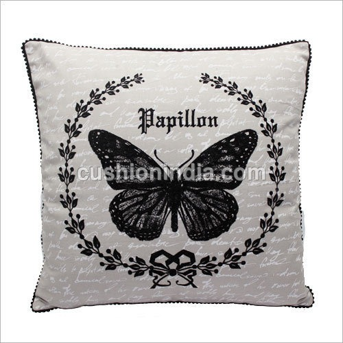 Butterfly Art Image  with  Write up Cotton Cushion