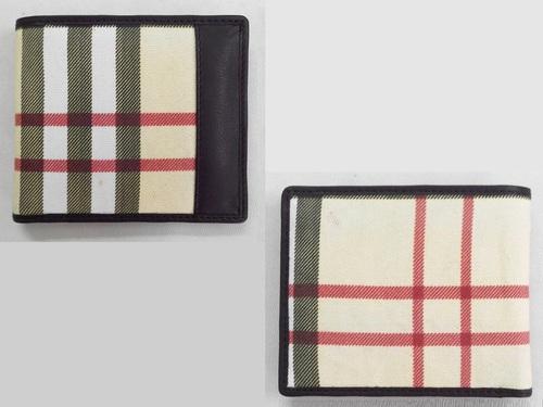 Leather Canvas Designer Wallet