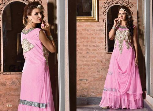 Stylish pink gown