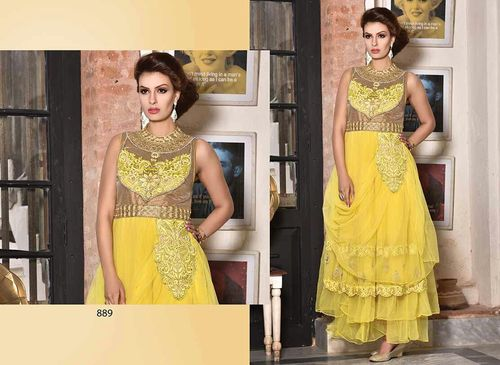 Stylish yellow gown