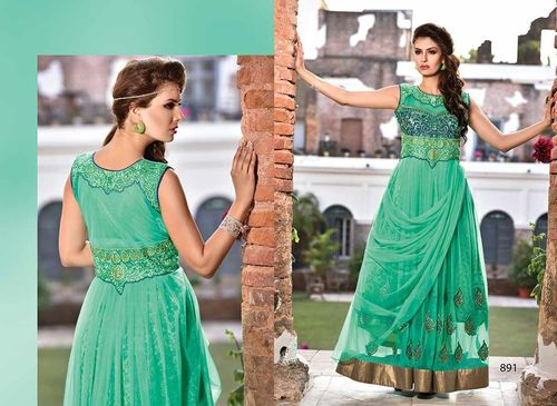 Stylish  Green gown