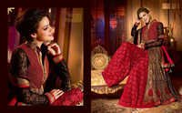Stylish Red Anarkali Shuit