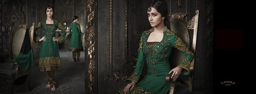 Green paety wear salwar suit