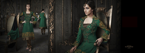 Green paety wear salwar suit
