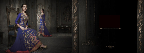 Purple wedding anarkali suit