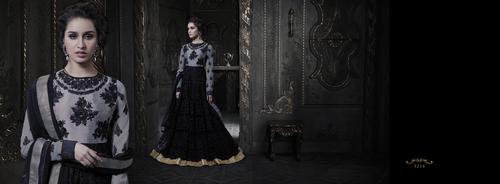 Black Designer Anarkali Suit