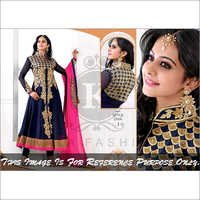 Stylish Black Anarkali Shuit