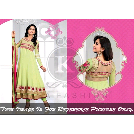 Stylish Green Color Anarkali Shuit