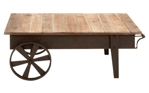 Wooden Food Serving Trolley