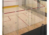 Squash Court Back Wall Glass System