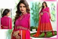 Beautiful Exclusive Designer Pink Anarkali Suit / Salwar Kameez