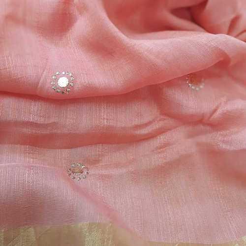 Munga silk with mukesh work