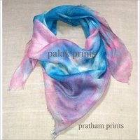 Square Scarves Tie Dye Cotton Gauze