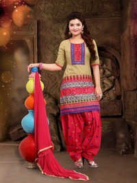 Cotton Patiyala Suit