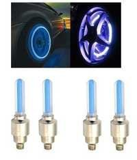 Autosun Blue Car Tyre Led Light With Motion Sensor - Set Of 4