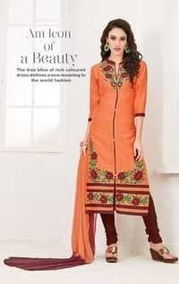 Peach Designer Casual Wear Suit