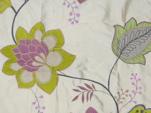Dupion silk Embroidered