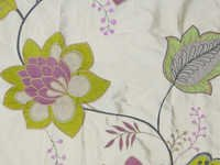 Dupion silk Embroidered